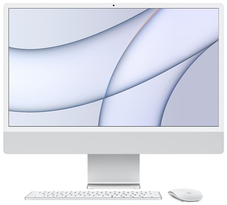 24-inch iMac Retina 4.5K Display M1 Chip with 8-Core CPU and 7-Core GPU 8GB/256GB SSD Magic Keyboard (English) Silver - May 2021