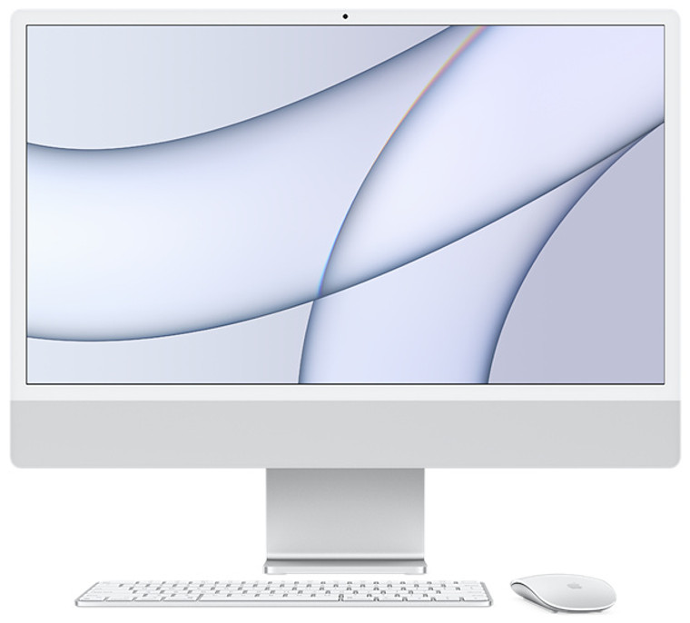 24-inch iMac Retina 4.5K Display M1 Chip with 8-Core CPU and 7-Core GPU 8GB/256GB SSD Magic Keyboard (Spanish) Silver - May 2021
