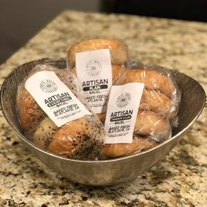 Add on 6 bagels for $12, includes 2 each: plain, cinnamon sugar, & everything.