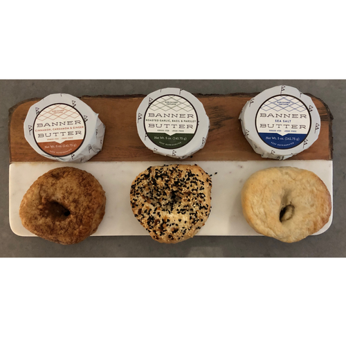 Small Bagel Box - 6 bagels, 6 mini butters