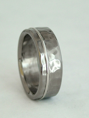 titanium ring with 1mm inlay