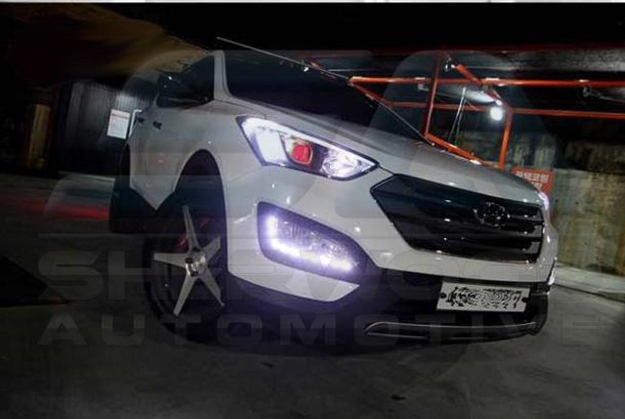 2013 2016 Santa Fe Dm Ix45 2 Way Led Fog Light Module Set Diy 2p Korean Auto Imports