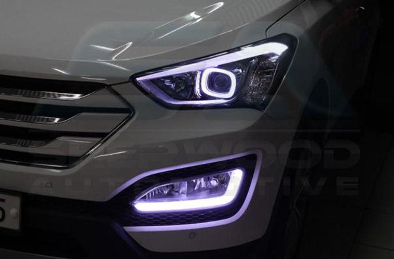 2013 2016 Santa Fe Dm Ix45 Illuminated Led Fog Light Module Set Korean Auto Imports