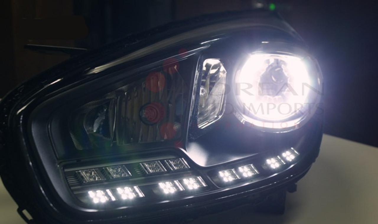 2014+ Rondo/Carens Custom OE 2-way LED DRL Headlight Replacement Set 2pc