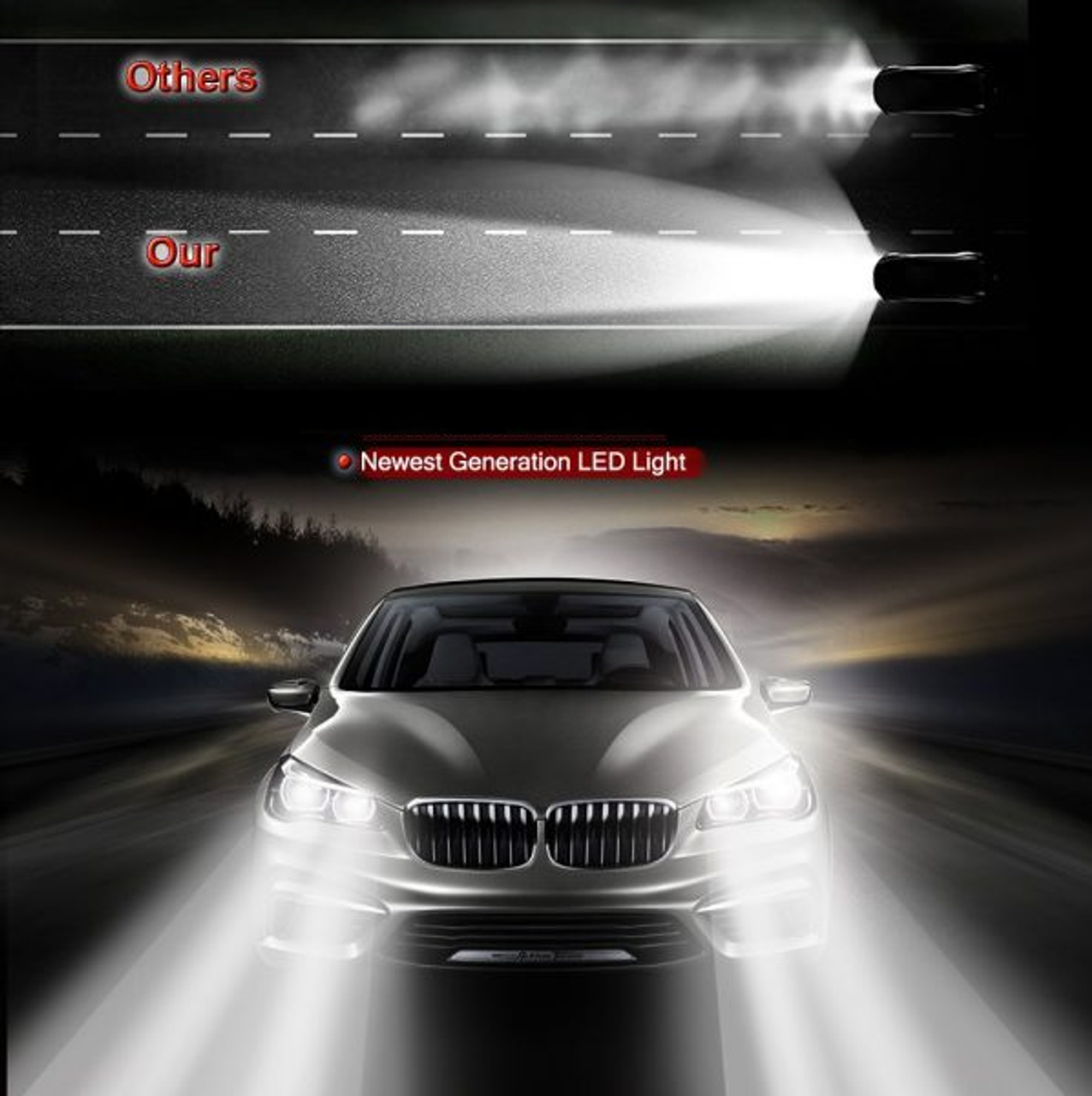 6x LED Headlight Conversion Kit Hi// low Beam Fog Light For Toyota Camry 2007-14