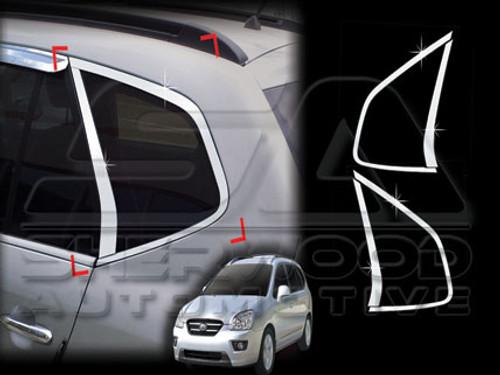 Chrome Rear Glass protector molding set for Kia All new Carens Rondo 2013~2016+