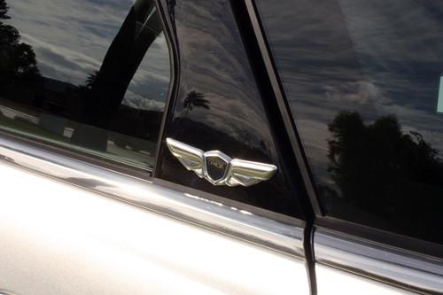 2pc Genesis MINI WING Fender Pillar Interior Accent Emblem Badge Coupe Sedan