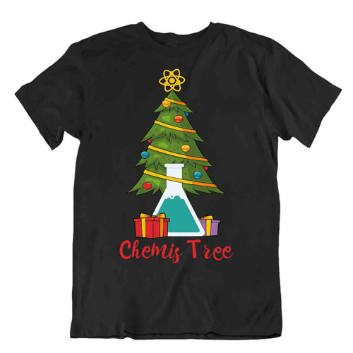 Chemis Tree T-Shirt Christmas Laboratory Tee T Shirt Special Funny Holyday Gift