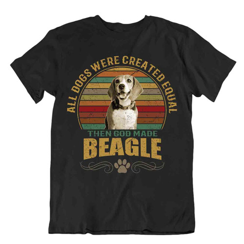 Beagle Dog T-shirt Cool gift for dogs Pet lovers vintage best friend present fun