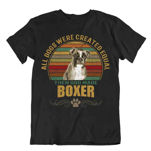 Boxer dog t-shirt cool gift for dogs pet lovers vintage cute best friend funny