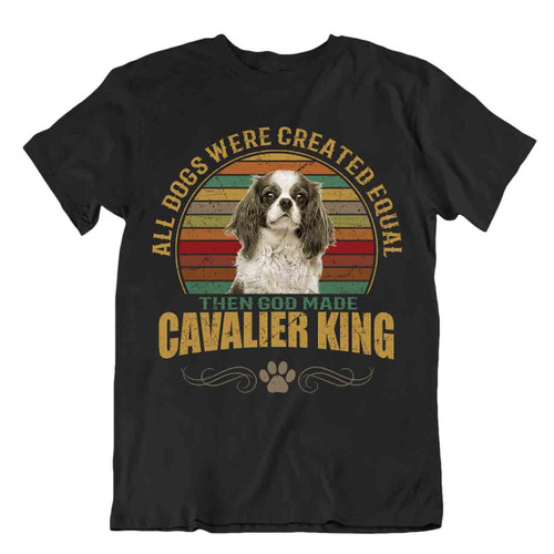 Cavalier King Dog T-Shirt Cool Gift For Dogs Pet Lovers Cute Vintage Best Friend