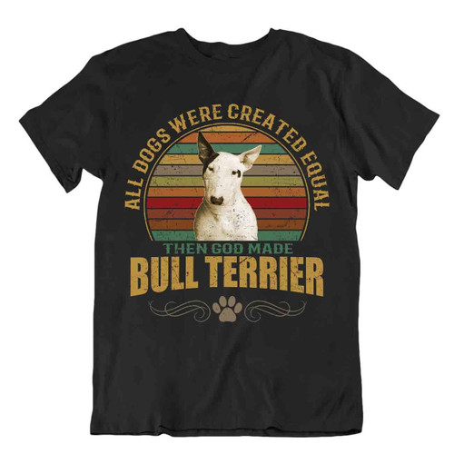 Bull Terrier Dog T-Shirt Cool Gift For Dogs Pet Lovers Vintage Cute Best Friend