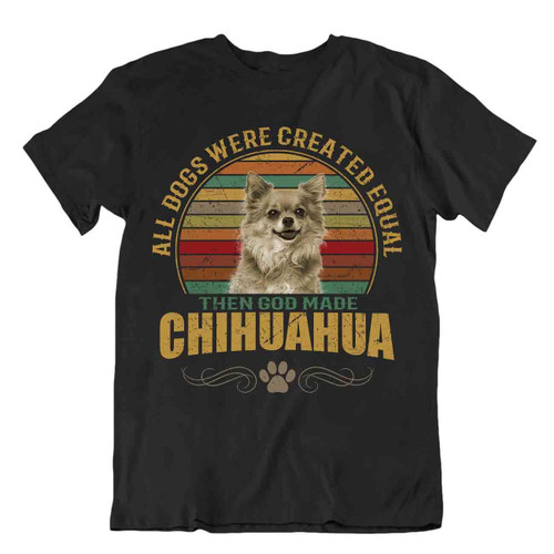 Chihuahua Dog T-Shirt Gift For Dogs Pet Lovers Cute Vintage Present Best Friend