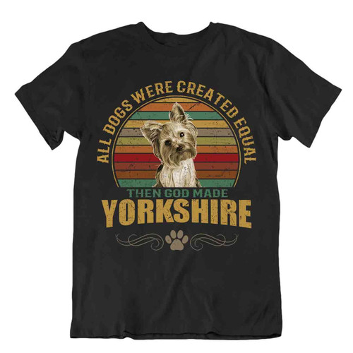 Yorkshire Dog T-Shirt Cute Gift For Pet Lovers Best Friend Vintage Funny Cool