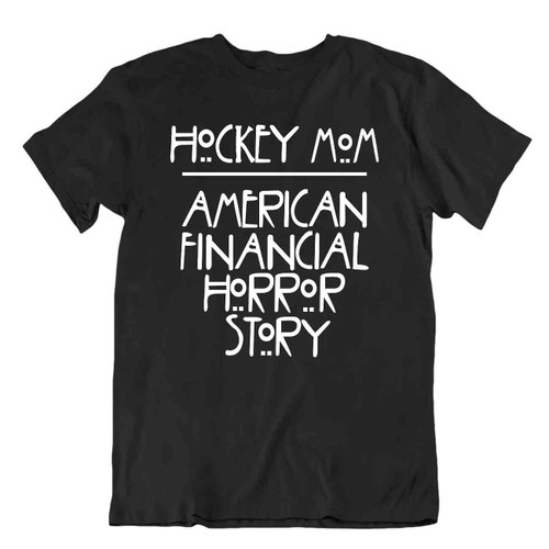 Hockey Mom T-Shirt Tee Gift Vintage Cute Funny Happy Puck Skate Mom America