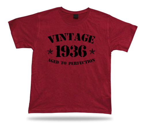 Printed T shirt tee Vintage 1936 aged to perfection happy birthday present gift