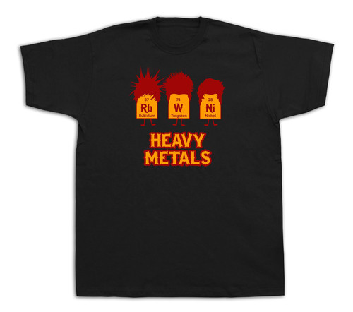 Heavy metals chemical Table sign t shirt chemistry rock spring casual iron tee