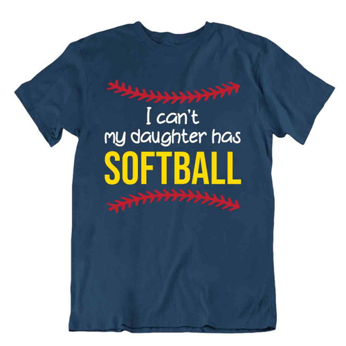 Softball Sport T-Shirt Tee Shirt Gift Cool Present Cute Funny Color Daughter