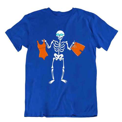 Skeleton Sports T-Shirt Comic Swimminf Tee T Shirt Relaxing Sports Shirt