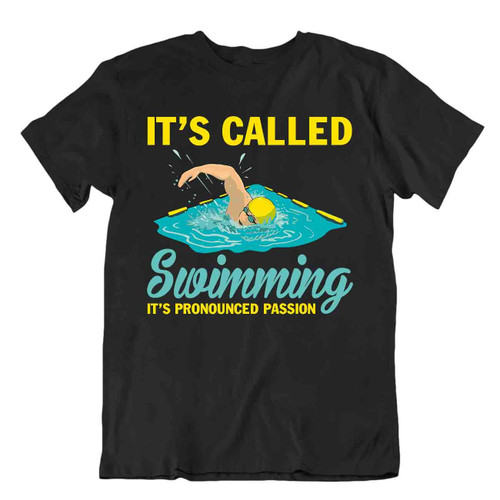Swimming Passion Tshirt Elegant Sports T-Shirt Relaxing Sports Tee