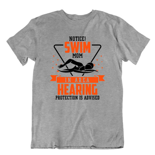 Swim Mom Sport Tshirt Protection Tee Funny Humor Family Shirt