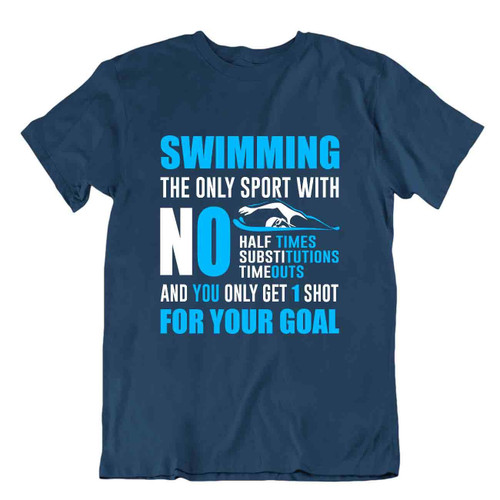 Swimming Goal Tee Fitness Shirts Fresh Elegant Sports Tshirt