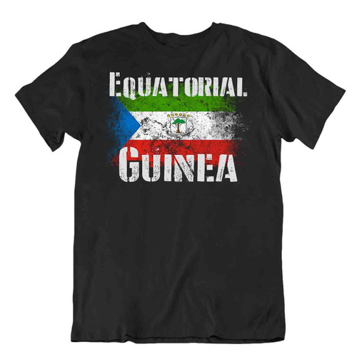 Equatorial Guinea flag Tshirt T-shirt Tee top city map mainland silk cotton tree