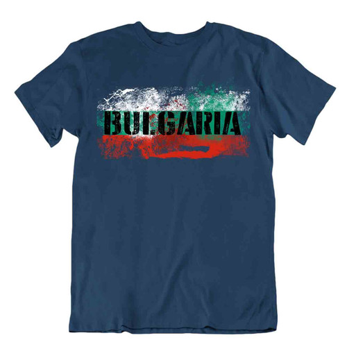 Bulgaria tricolor flag Tshirt T-shirt Tee top city map crown nation pride gift