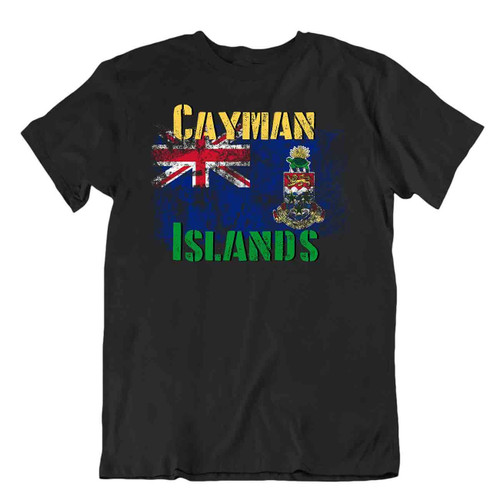 Cayman Islands flag Tshirt T-shirt Tee top city map