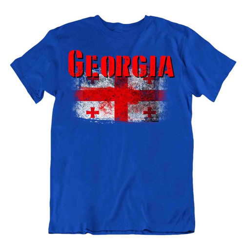 Georgia flag Tshirt T-shirt Tee top city map Five Cross Flag royal house gift