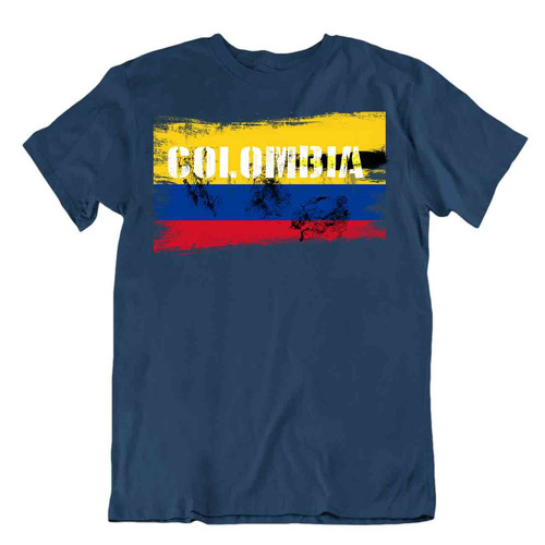 Colombia flag Tshirt T-shirt Tee top city map Liberty and Order special souvenir