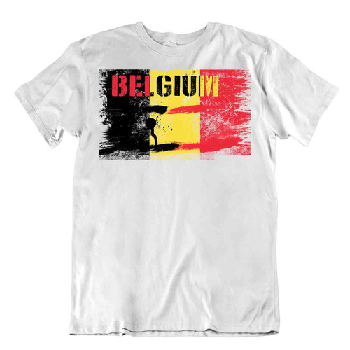 Belgium flag Tshirt T-shirt Tee top city map bears a lion UNITY MAKES STRENGTH