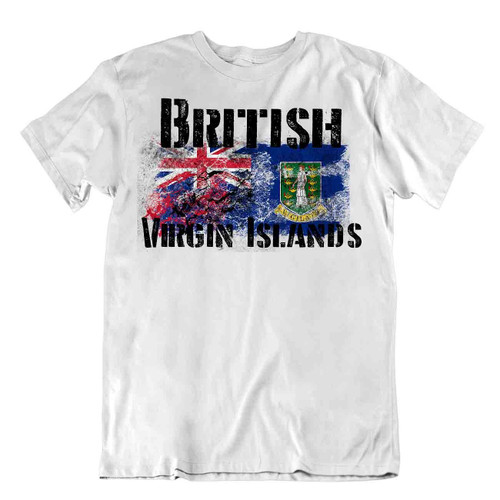 Coat of arms of the British Virgin Islands flag Tshirt T-shirt Tee top city map