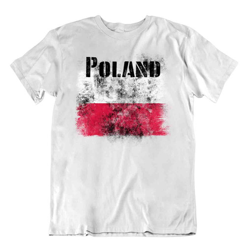 Poland flag Tshirt T-shirt Tee top city map Basic TEXTILE nation holy gift
