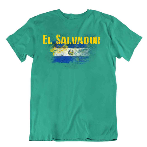 El Salvador flag Tshirt T-shirt Tee top city map peace solidarity amber triangle