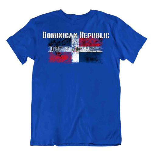 Dominican Republic flag Tshirt T-shirt Tee top city map liberty salvation heroes