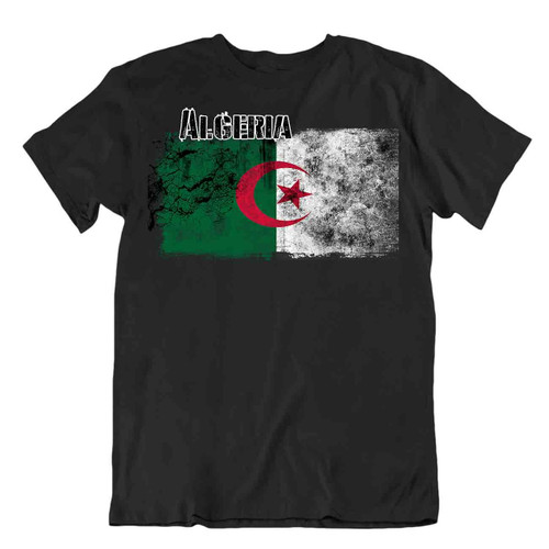 Algeria flag Tshirt T-shirt Tee top city map middle power Democratic Republic