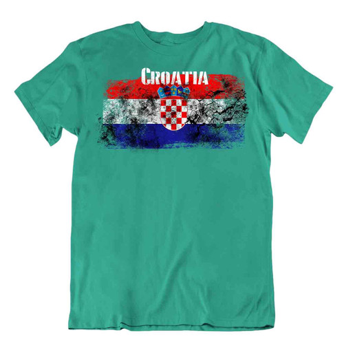 Croatia flag Tshirt T-shirt Tee top city map shields crown checkerboard GIFT