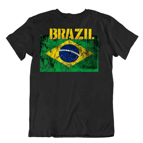 Brazil flag Tshirt T-shirt Tee top city map Auriverde tricot gift coffee tabacco