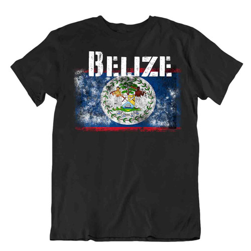 Belize flag Tshirt T-shirt Tee top city map independence mahogany tree tricot