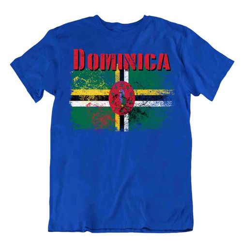 Dominica flag Tshirt T-shirt Tee top city map sisserou parrot wonderful souvenir