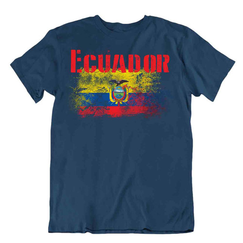 Ecuador flag Tshirt T-shirt Tee top city Chimborazo soil skies PRIDE SOUVENIR