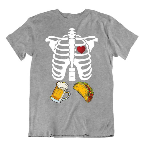 Beer And Food Makes Me Happy T-SHIRT Drinking Party Bar Tee TEE Cheers SHIRT