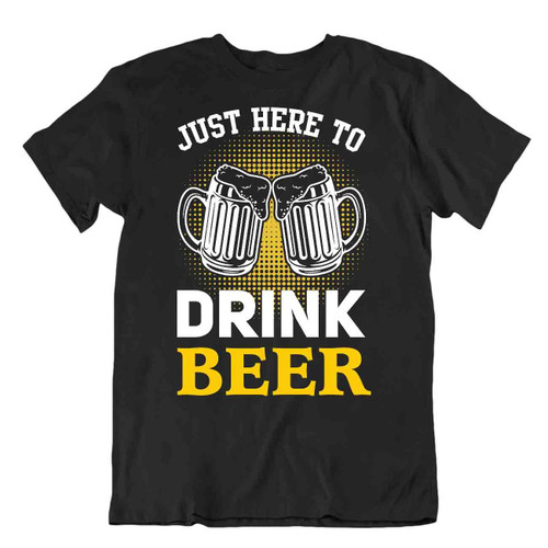 Drink Beer T-Shirt Novelty Gift Tee Oktoberfest Beer Shirt Drinking Joke Comic