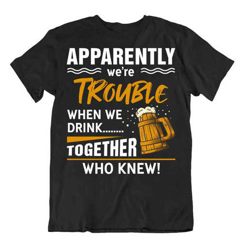 Amusing Comic Pun Beer T-Shirt Drinking Party Bar Tee Sarcastic Men Funny Shirt
