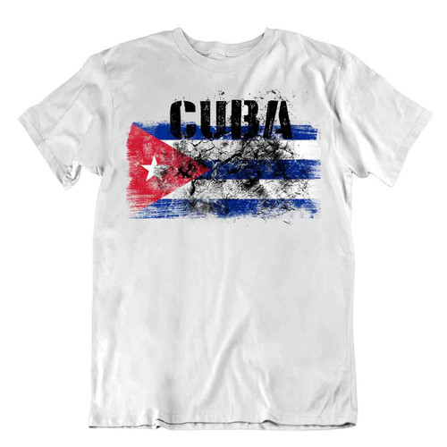 Cuba flag Tshirt T-shirt Tee top city map PHRYGIAN CAP OAK PRIDE SOUVENIR