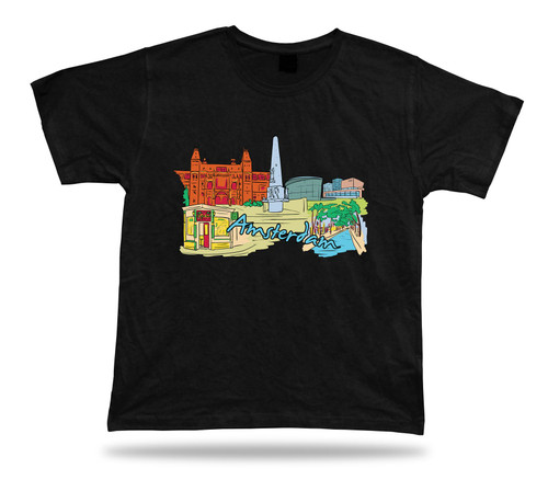 amsterdam the west church van gogh museum royal palace coffee shop t-shirt tee