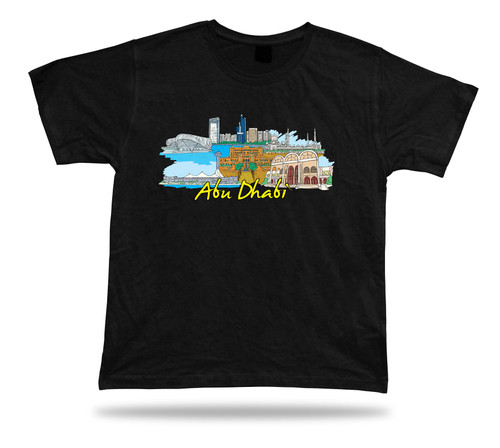 Abu Dhabi UAE marina diner sky scrapers sheikh zayed grand mosque t-shirt tee
