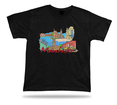 Manchester Cathedral Manchester Museum The Lowry Old Trafford tshirt tee gift