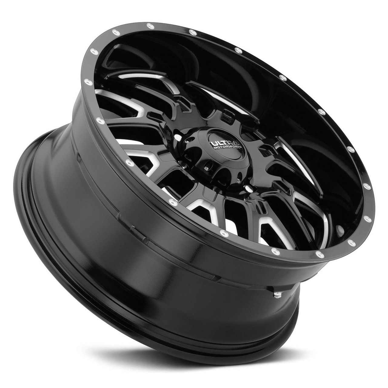 18mm Black//Milled Wheel Rim Ultra 203BM Hunter 20x9 6x135